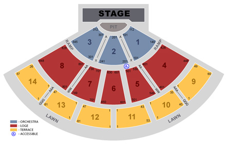 San Manuel Amphitheater seating chart