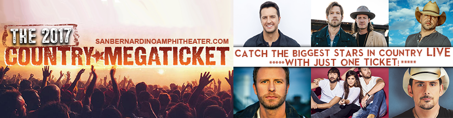 2017 Country Megaticket Tickets (Includes All Performances at Honda Center & Glen Helen Amphitheater) at San Manuel Amphitheater