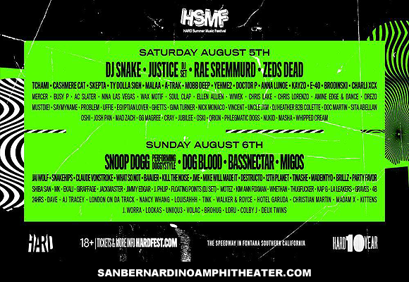 Hard Summer Music Festival - Sunday at San Manuel Amphitheater