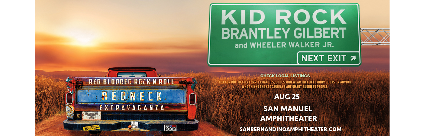 Kid Rock, Brantley Gilbert & Wheeler Walker Jr. at San Manuel Amphitheater