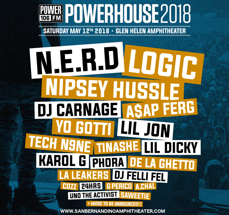 Powerhouse 2018: N.E.R.D, Logic & ASAP Ferg at San Manuel Amphitheater