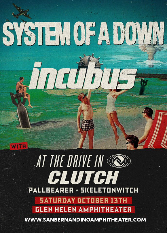 System Of A Down & Incubus at San Manuel Amphitheater